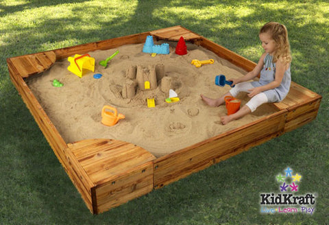 KidKraft Backyard Sandbox 130