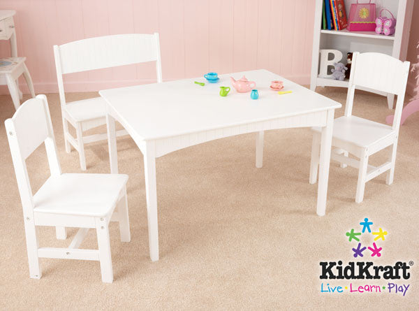 Kidkraft Nantucket Table With Bench And 2 Chairs 26110