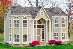 10 x 16 Grand Portico Mansion Panelized Kit - Peazz.com