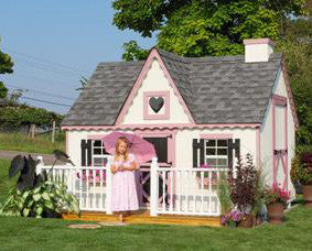 8 x 10 Victorian Playhouse - Panelized Kit - Peazz.com