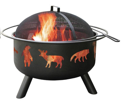 Bayden Hill 28347 Big Sky® - Wildlife - Black, Includes Cover And Cooking Grate - Peazz.com