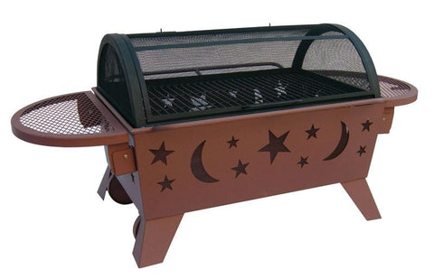 Bayden Hill 28740 Northern Lights Xt- Stars & Moon - Georgia Clay, Includes Poker And Cooking Grate - Peazz.com