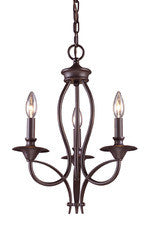 Landmark Lighting 61031-3 Medford Three Light Chandelier in Oiled Bronze - Peazz.com