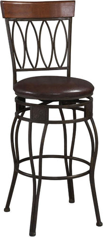 "Four Oval Back Counter Stool 24"" - 02562MTL-01-KD-U - BarstoolDirect.com"