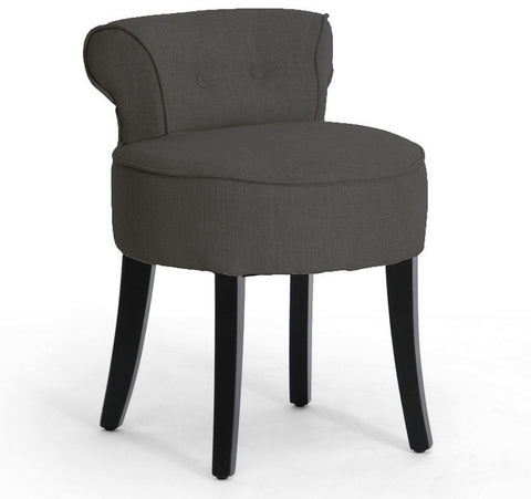 Wholesale Interiors BH-63110-Grey-AC Millani Gray Linen Modern Lounge Stool - Each - Peazz.com