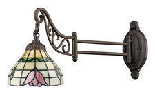 Landmark 079-TB-09 Mix-N-Match One Light Swingarm Sconce in Tiffany Bronze - Peazz.com