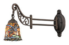 Landmark 079-TB-12 Mix-N-Match One Light Swingarm Sconce in Tiffany Bronze - Peazz.com