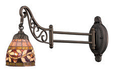 Landmark 079-TB-13 Mix-N-Match One Light Swingarm Sconce in Tiffany Bronze - Peazz.com
