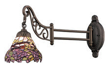 Landmark 079-TB-28 Mix-N-Match One Light Swingarm Sconce in Tiffany Bronze - Peazz.com