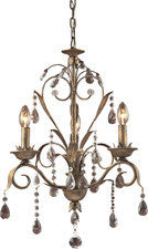 Landmark Lighting 08083-WS Angelite Three Light Chandelier in Weathered Silver - Peazz.com