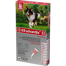 K9 Advantix II 21-55 lbs. Red - 6 Pack - Peazz.com