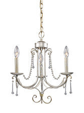 Landmark Lighting 413-AS Cambridge Three Light Chandelier in Antique Silver - Peazz.com