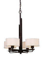 Landmark Lighting 65022-4 Iron Heights Four Light Chandelier in Oiled Bronze - Peazz.com