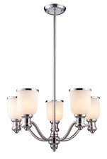 Landmark Lighting 66153-5 Brooksdale Five Light Chandelier in Polished Chrome - Peazz.com