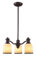 Landmark Lighting 66172-3 Brooksdale Three Light Chandelier in Oiled Bronze - Peazz.com