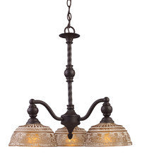 Landmark Lighting 66196-3 Norwich Three Light Chandelier in Oiled Bronze - Peazz.com