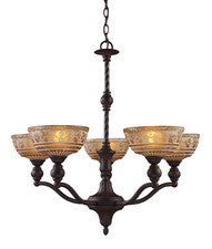 Landmark Lighting 66197-5 Norwich Five Light Chandelier in Oiled Bronze - Peazz.com