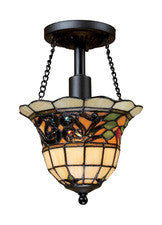 Landmark 70021-1 Tiffany Buckingham One Light Semi-Flush in Vintage Antique - Peazz.com