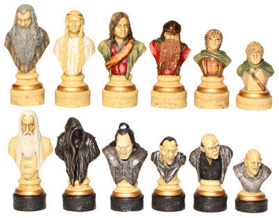 The Lord of the Rings Chess Set Pieces - SAC Hand Painted - Peazz.com