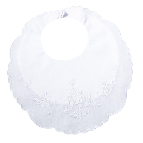 Lillian Rose 24BI830 W Baby Bib - White - Peazz.com