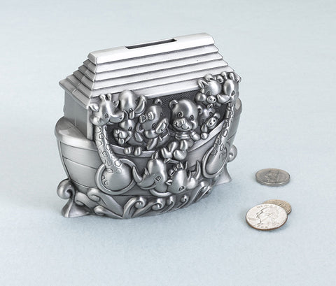 Lillian Rose 24BK720 A Noah's Ark Pewter Bank - Peazz.com