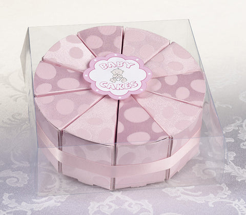 Lillian Rose 24FA110 P Set/10 Baby Cakes Favors-Pink - Peazz.com