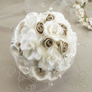 Lillian Rose BQ470 T Taupe Rose Bouquet