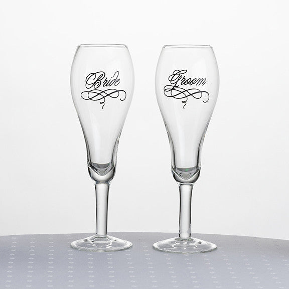 Lillian Rose G705 Bride & Groom Glasses