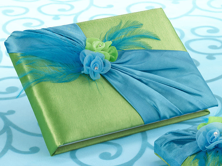 Lillian Rose GB820 Blue/Green Guestbook