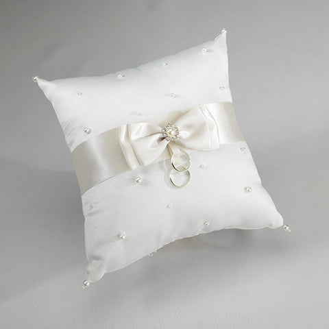 Lillian Rose RP125 I Scattered Pearl Pillow - Ivory - Peazz.com