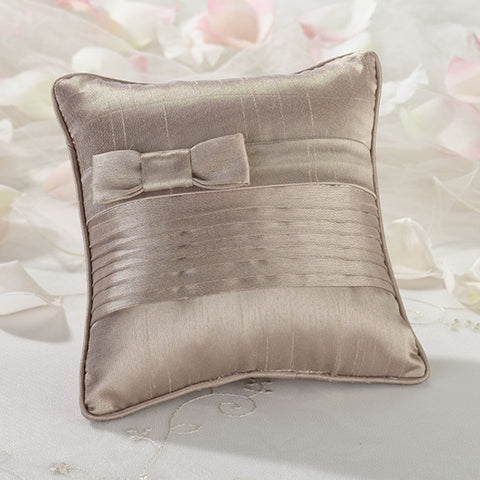 Lillian Rose RP520 T Taupe Pleated Silk Pillow - Peazz.com