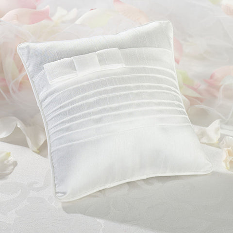 Lillian Rose RP520 W White Pleated Silk Pillow - Peazz.com