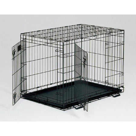 Life Stages Double Door Dog Crate 30L X 21W X 24H - Peazz.com