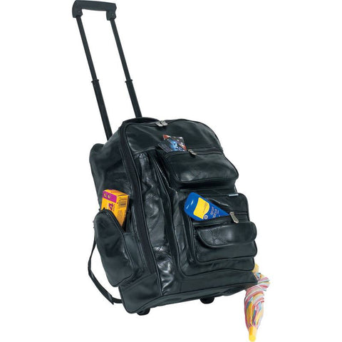 Embassy Italian Stone Design Genuine Leather Backpack/Cart - Peazz.com