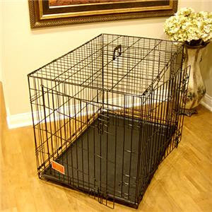 "30"" Majestic Pet Double Door Folding Dog Crate Cage - Medium - Peazz.com"