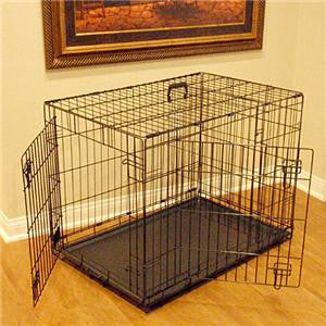 "36"" Majestic Pet Double Door Folding Dog Crate Cage - Medium - Peazz.com"