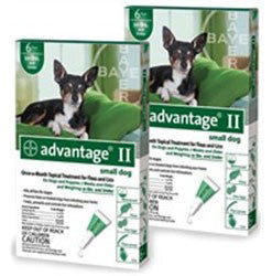 Advantage II For Small Dogs 1-10 lbs, Green 12 Pack - Peazz.com