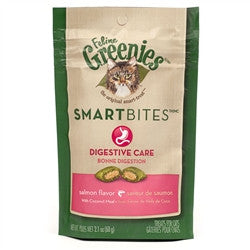 Feline Greenies SmartBites Digestive Care - Salmon, 2.1 oz - Peazz.com