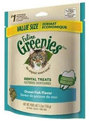 Feline Greenies Dental Treats - Ocean Fish Flavor - 5.5 oz - Peazz.com