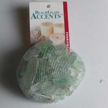 2 Quantity of Beach Glass 1lb Bag Pale Green - Peazz.com