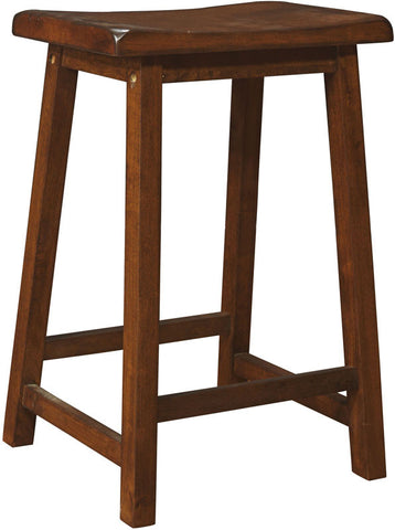 "Monarch Specialties I 1541 Walnut 24""H Saddle Seat Barstools/ 2Pcs Per Ctn - Peazz.com"