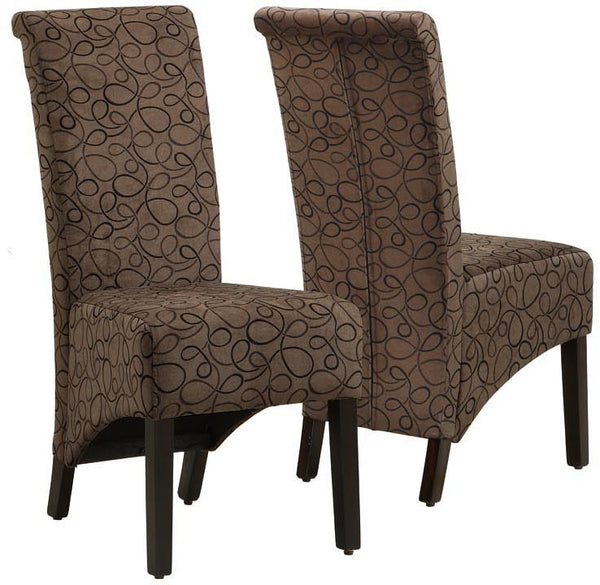 monarch specialties i 1788br brown swirl fabric 40 quot h fabric covered office chairs fabric covered chairs dining