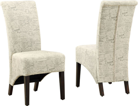 "Monarch Specialties I 1790FR Vintage French Fabric 40""H Parson Chair / 2Pcs Per Carton - Peazz.com"