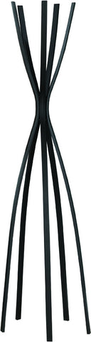 "Monarch Specialties I 2017 Satin Black Metal 72""H Contemporary Coat Rack - Peazz.com"