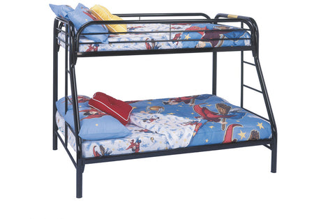 Monarch Specialties I 2231K Black Metal Twin / Full Bunk Bed Only - Peazz.com