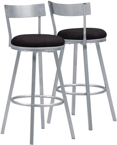 "Monarch Specialties I 2332 Silver Metal 43""H Swivel Barstool / 2Pcs Per Carton - Peazz.com"