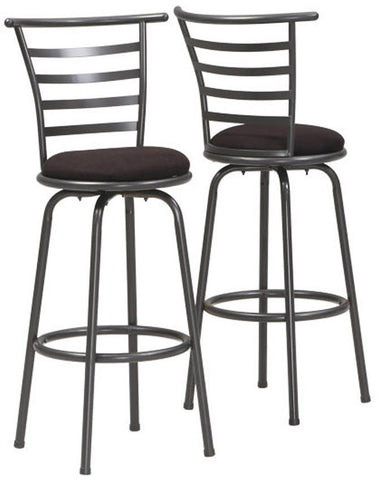 "Monarch Specialties I 2396 Silver Grey Metal 43""H Swivel Barstool/ 2Pcs Per Carton - Peazz.com"