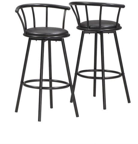 "Monarch Specialties I 2398 Black 43""H Swivel Bar Stool / 2Pcs Per Carton - Peazz.com"