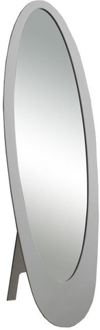 Monarch Specialties I 3359 Grey Contemporary Oval Cheval Mirror - Peazz.com