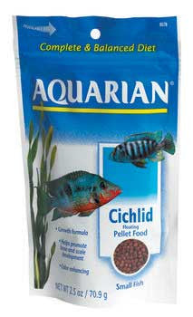 2 Quantity of Aquarian Cichlid Pellet Small 2.5oz - Peazz.com
